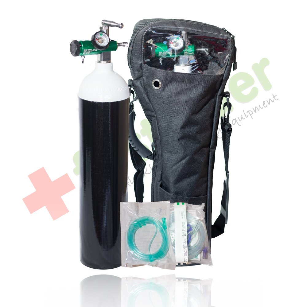 Portable Medical Oxygen Cylinder 424L Kit By Firstaider