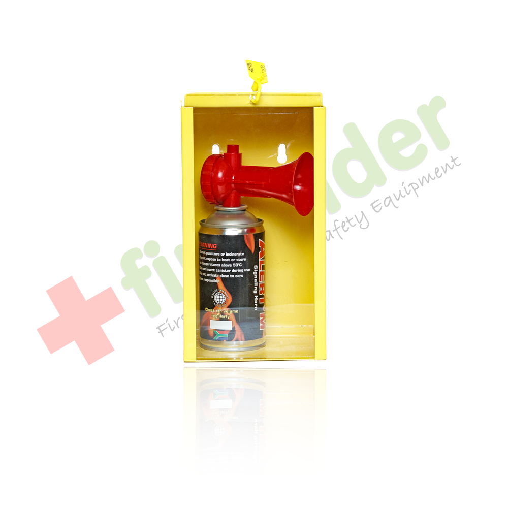 Emergency Air Horn with Wall Mounted Cabinet