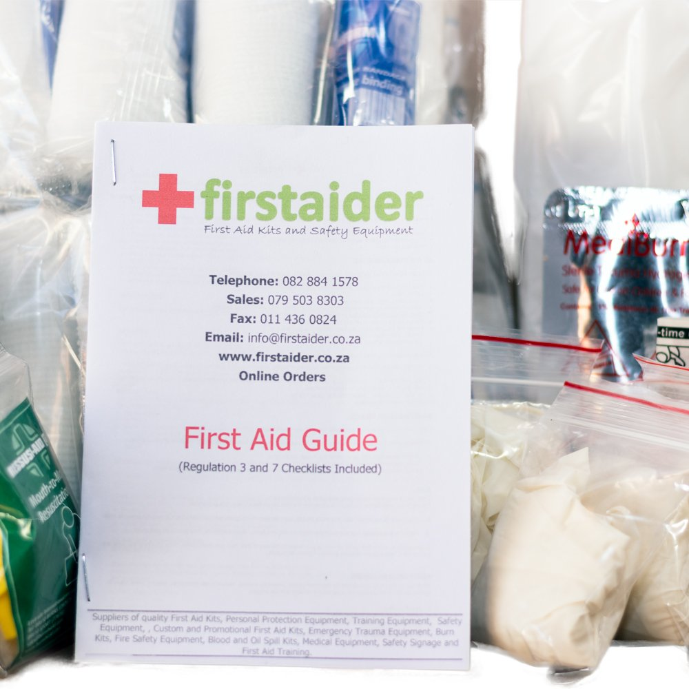 Regulation 3 First Aid Kit (5-50 Persons) in Red Grab Bag (35cm*25cm*10cm)  by Firstaider