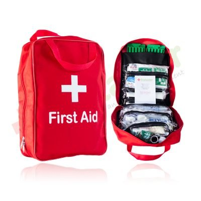 Regulation 7 First Aid Kit in Red Grab Bag