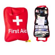 Motor Vehicle First Aid Kit in Red Grab Bag