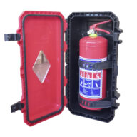 9kg DCP Fire Extinguisher Heavy Duty Plastic Cabinet Combo by Firstaider